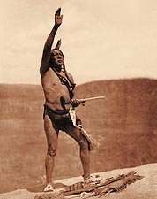 Edward S. Curtis Sun Dancer Sioux Indian Photo Print for Sale