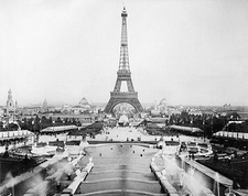 Eiffel Tower & Champ De Mars, Paris 1889 Photo Print