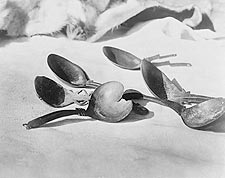 Elk Horn Spoons, Tolowa Indian Craft Photo Print for Sale