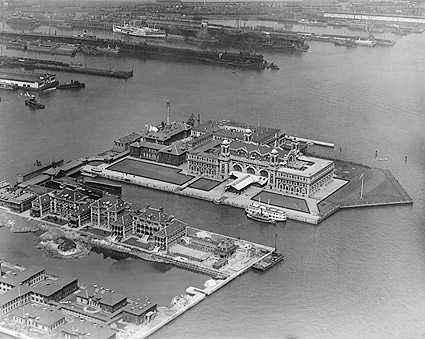 Ellis Island Aerial New York City 1920 Photo Print