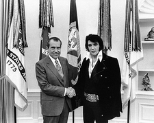 Elvis Presley Meets President Nixon Photo Print