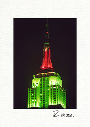 Empire State Building, New York City Christmas Boxed Greeting Cards