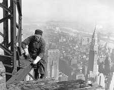 Empire State Building Worker Lewis Hine Photo Print