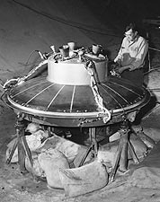 Engineer Working on Mercury Capsule Photo Print for Sale
