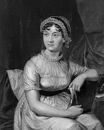 English Novelist Jane Austen Portrait Photo Print