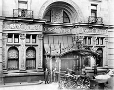 Entrance of Waldorf Astoria Hotel NYC 1902 Photo Print for Sale