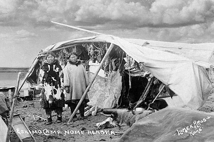 Eskimo Camp, Nome, Alaska 1916 Photo Print