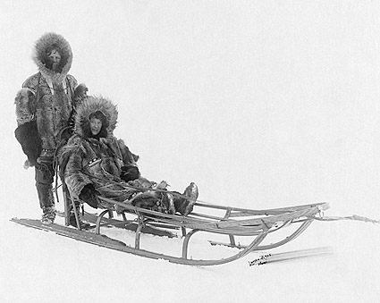 Eskimo Dog Sledding in Nome Alaska Photo Print