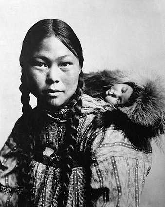 Eskimo Mother & Child Alaska 1906 Portrait Photo Print