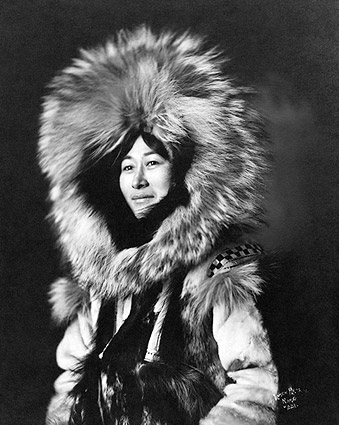 Eskimo Woman Portrait Yukon Alaska 1915 Photo Print