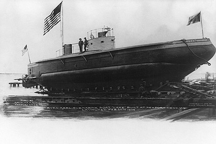 Even Keel Submarine Newport News, Virginia 1906 Photo Print