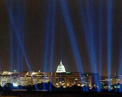 Evening Light Display in Washington, D.C.  Photo Print