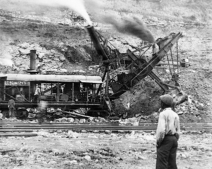 Excavating Engine Panama Canal Construction Photo Print