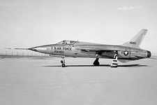 F-105 Thunderchief on Lakebed Photo Print