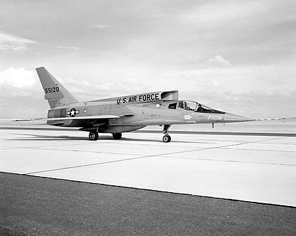 F-107A Parked on Ramp F-107 Photo Print