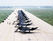 F-117A / F-117 Stealth Fighters Flight Line Photo Print