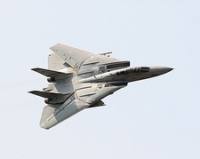 F-14 Tomcat Fighter Jet Banking Photo Print