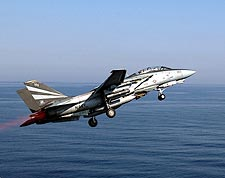 F-14 Tomcat Launching From VF-154 USS Kitty Hawk Photo Print for Sale