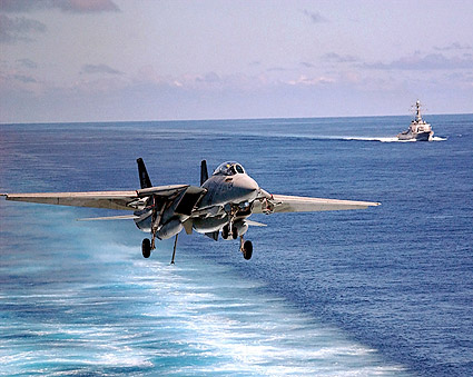 F-14 Tomcat VF-103 Carrier Landing Photo Print