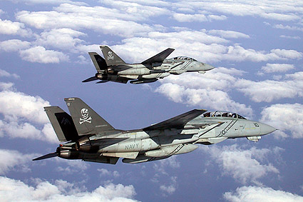 F-14 Tomcat VF-103 Pair in Flight Photo Print