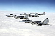F-15 Eagles in Formation Photo Print for Sale