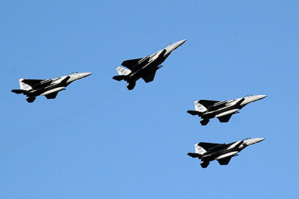 F-15 Fighter Jet Missing Man Formation Photo Print