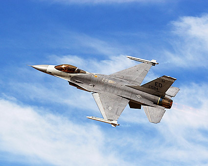 F-16 Falcon Fighter Banking Photo Print