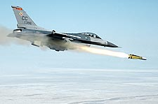 F-16 Fighting Falcon Fighter Fires Missile Photo Print for Sale
