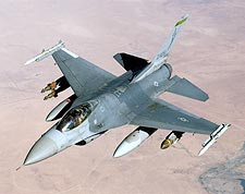 F-16 Fighting Falcon Fighter in Flight Photo Print for Sale