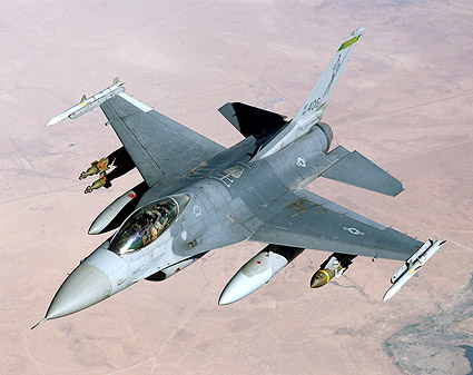 F-16 Fighting Falcon Fighter in Flight Photo Print