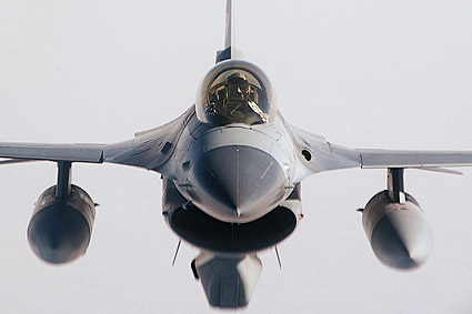 F-16 Fighting Falcon Head on View Photo Print