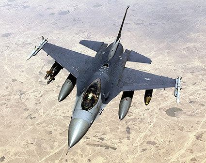 F-16 Fighting Falcon in Flight US Air Force Photo Print