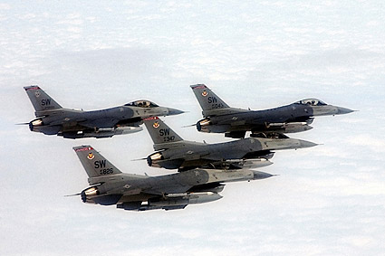 F-16 Fighting Falcons Formation US AF Photo Print