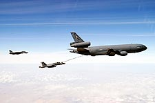 F-18 Hornet Marauders & KC-10 Refueling Photo Print for Sale