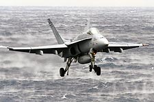 F-18 Hornet VFA-15 Valions Carrier Approach Photo Print for Sale