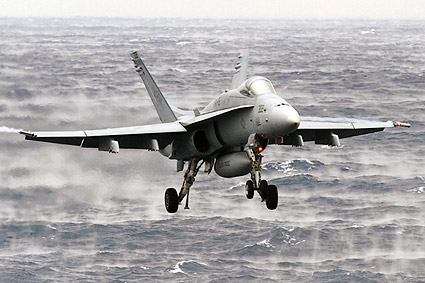 F-18 Hornet VFA-15 Valions Carrier Approach Photo Print