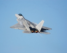 F-22 Raptor Fighter Jet Climbing Photo Print