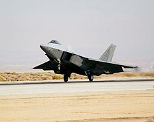 F-22 Raptor Fighter Jet Landing Photo Print for Sale