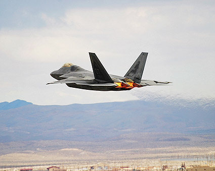 F-22 Raptor with Afterburner Photo Print