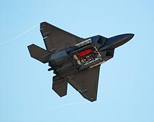 F-22 Raptor with Weapons Bays Photo Print for Sale