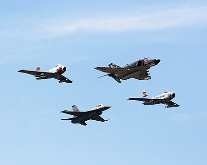 F-4, F-16 / F-16F & F-86 Aircraft Photo Print