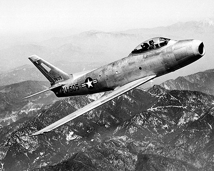 F-86 / F-86A Sabre in Flight Korea Photo Print