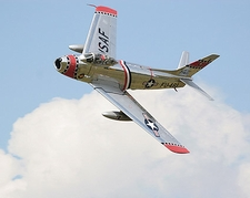 F-86 Sabre Fighter Jet Banking Photo Print