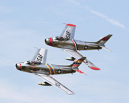 F-86 Sabre Jet Aircraft Pair Photo Print