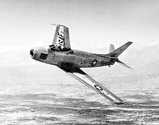 F-86F / F-86 Sabre Jet in Flight Photo Print for Sale