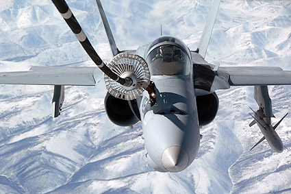 F/A-18 Hornet Refueling In Flight Photo Print