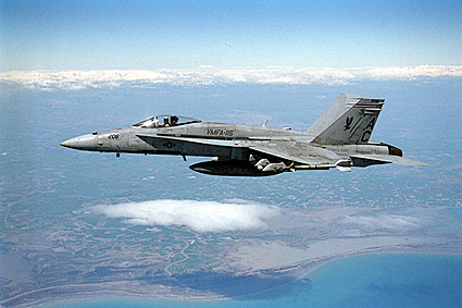 F/A-18 Hornet VMFA-115 in Flight F-18 Photo Print