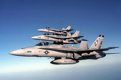F/A-18 Hornets of CVW-17 VFA-83 F-18 Photo Print