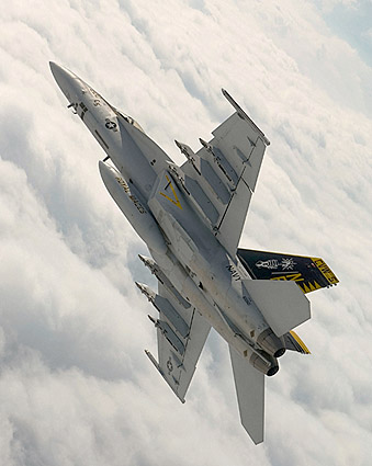 F/A-18E Super Hornet Aerial Maneuver Photo Print