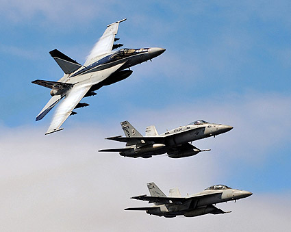 F/A-18E Super Hornets of Carrier Air Wing (CVW) 2 Photo Print